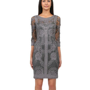 SUE WONG 3/4 Sleeve Embroidered GRAY 6 #210